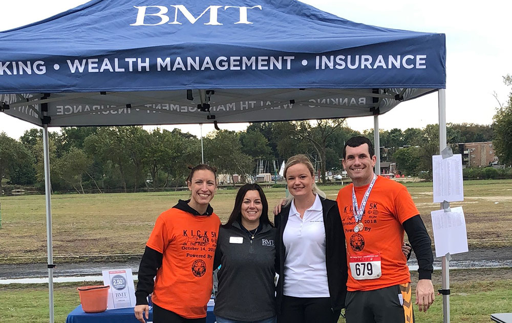 Bryn Mawr Trust sponsor at the Kick Cancer in the Face 5K