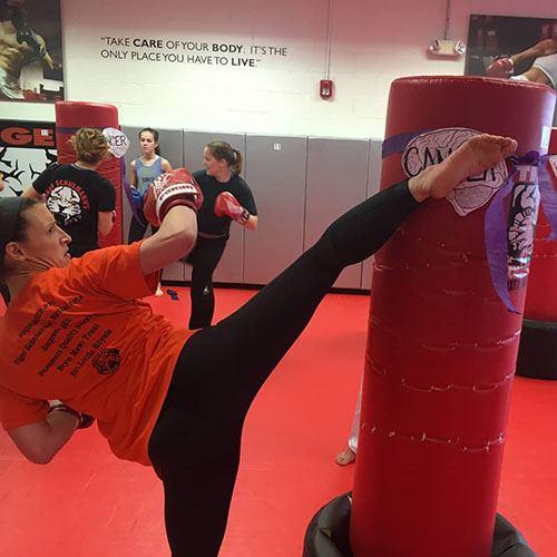 Rachel Baker kickboxing